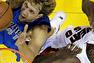 Dirk Nowitzki cools the Heat